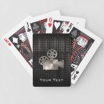 Cámara de película rugosa barajas de cartas