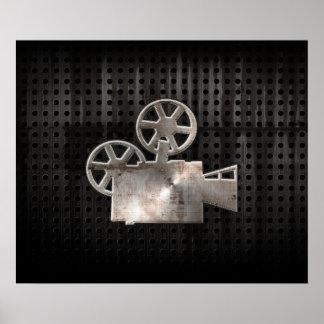 Cámara de película rugosa impresiones