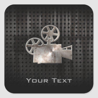 Cámara de película rugosa colcomanias cuadradas