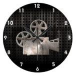 Cámara de película rugosa relojes de pared