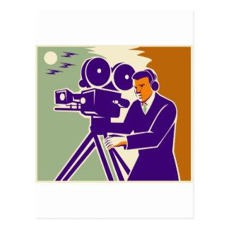 Cámara de película video del vintage del equipo de tarjetas postales