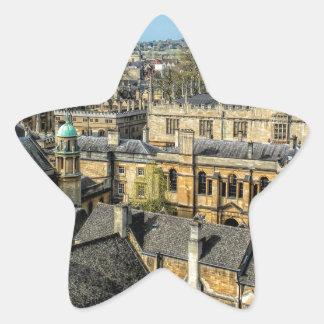Cámara de Radcliffe y biblioteca Oxford de Pegatina En Forma De Estrella