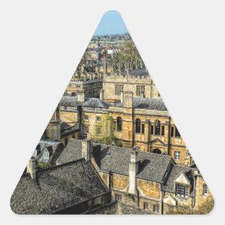 Cámara de Radcliffe y biblioteca Oxford de Pegatina Triangular
