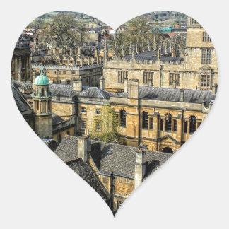 Cámara de Radcliffe y biblioteca Oxford de Pegatina En Forma De Corazón