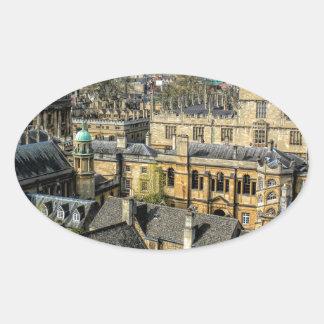 Cámara de Radcliffe y biblioteca Oxford de Pegatina Ovalada