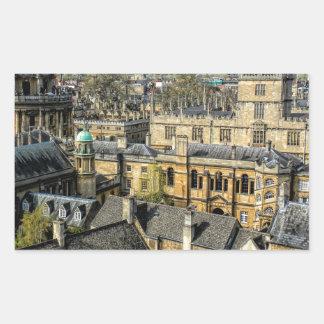 Cámara de Radcliffe y biblioteca Oxford de Pegatina Rectangular