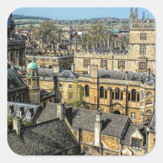 Cámara de Radcliffe y biblioteca Oxford de Pegatina Cuadrada