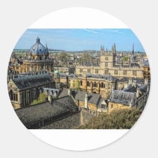 Cámara de Radcliffe y biblioteca Oxford de Pegatina Redonda