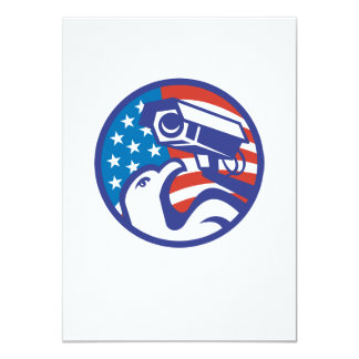 Cámara de seguridad americana del águila calva anuncios personalizados