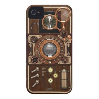 Cámara de Steampunk TLR del vintage iPhone 4 Case-Mate Carcasas