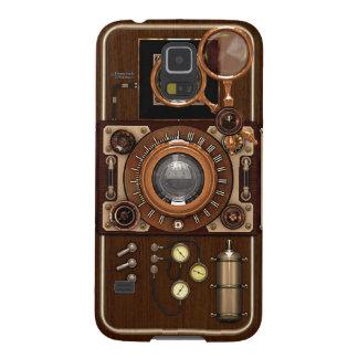 Cámara de Steampunk TLR del vintage Funda Galaxy S5