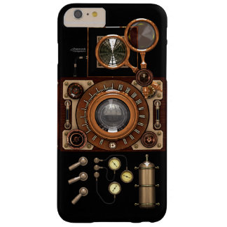 Cámara de Steampunk TLR del vintage (oscura) Funda Para iPhone 6 Plus Barely There