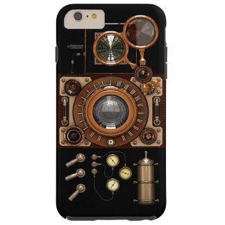 Cámara de Steampunk TLR del vintage (oscura) Funda Para iPhone 6 Plus Tough