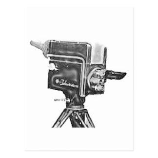 cámara de televisión del estudio de la difusión de postal