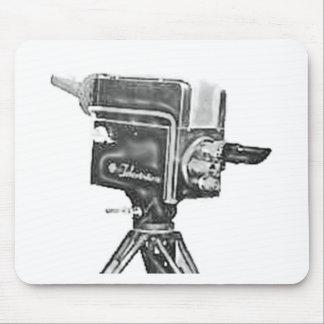 cámara de televisión del estudio de la difusión de alfombrillas de ratones