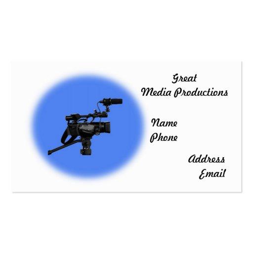 Cámara de vídeo moderna de Digitaces con el micróf Plantillas De Tarjeta De Negocio