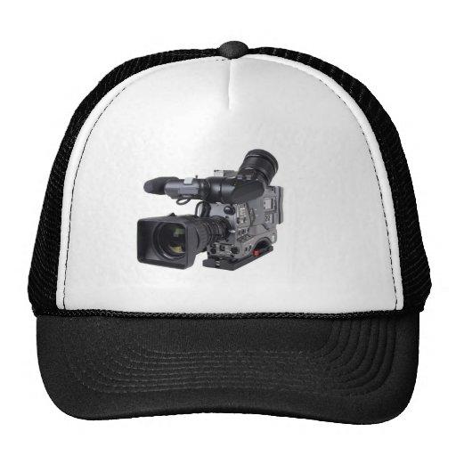 cámara de vídeo profesional gorros bordados