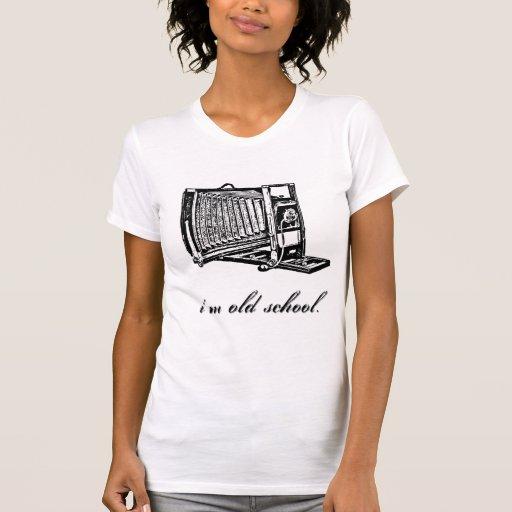 Cámara de visión soy escuela vieja camiseta
