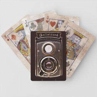 Cámara del art déco de Rolleicord Baraja Cartas De Poker