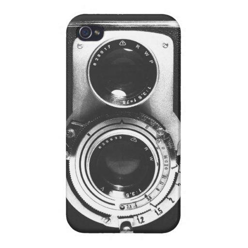 Cámara del b&w del vintage iPhone 4/4S carcasas