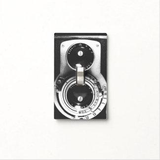 Cámara del b&w del vintage placas para interruptor