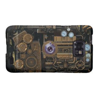 Cámara del engranaje del indicador de Steampunk Galaxy S2 Carcasa