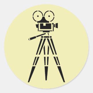 Cámara del escenario de película de la película pegatinas redondas