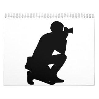 Cámara del fotógrafo calendario
