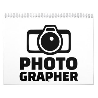 Cámara del fotógrafo calendario de pared