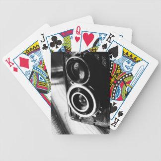 Cámara del vintage barajas de cartas