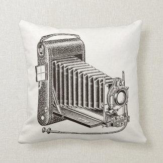 Cámara del vintage - fotografía antigua de las cám almohadas