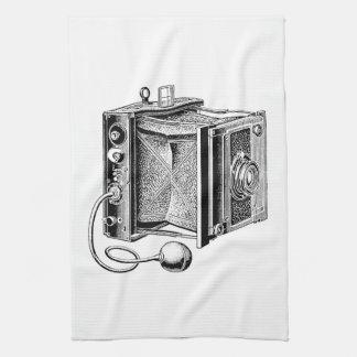 Cámara del vintage - fotografía antigua de las cám toallas de mano