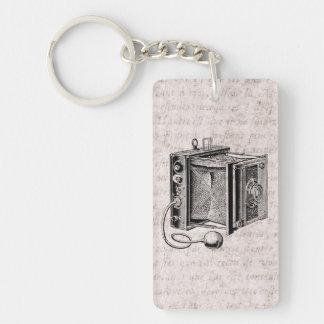 Cámara del vintage - fotografía antigua de las llavero rectangular acrílico a una cara