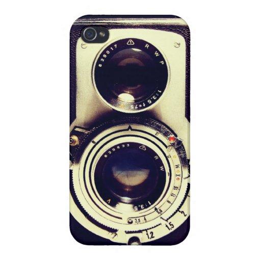 Cámara del vintage iPhone 4 fundas