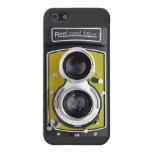 ¡Cámara del vintage para su iPhone 5! Color amaril iPhone 5 Protector
