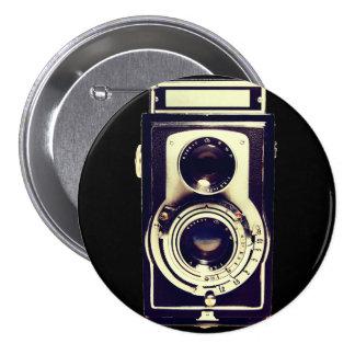 Cámara del vintage pin redondo 7 cm