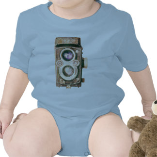 Cámara del vintage trajes de bebé