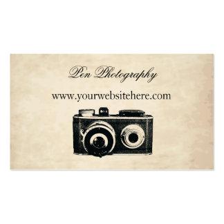 Cámara del vintage plantilla de tarjeta de negocio