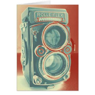 Cámara del vintage tarjeta de felicitación