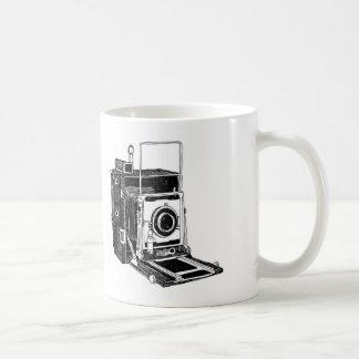 Cámara del vintage taza básica blanca