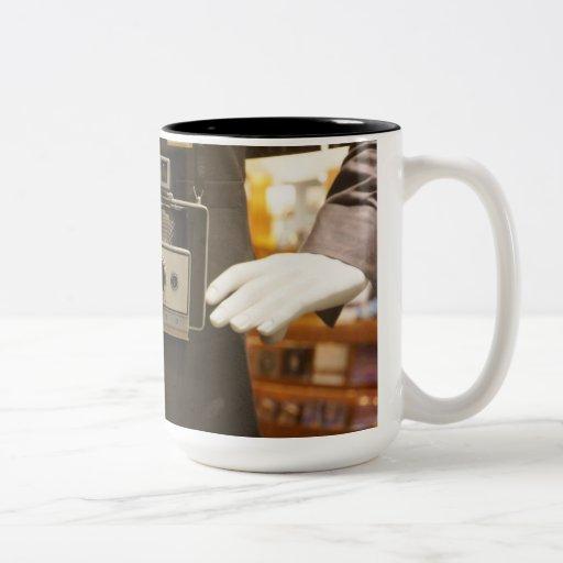Cámara del vintage - taza de café