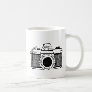 Cámara del vintage taza de café