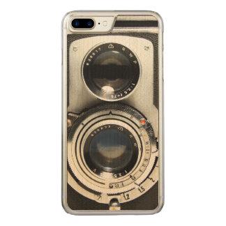 Cámara del vintage - vieja mirada de la antigüedad funda para iPhone 7