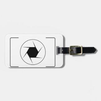 Cámara digital abstracta etiqueta para equipaje