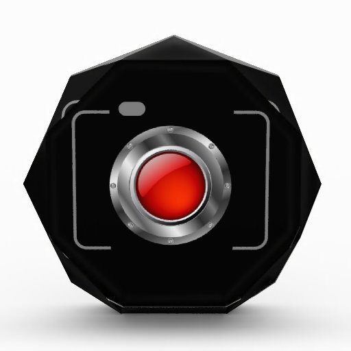 Cámara digital con la abertura roja