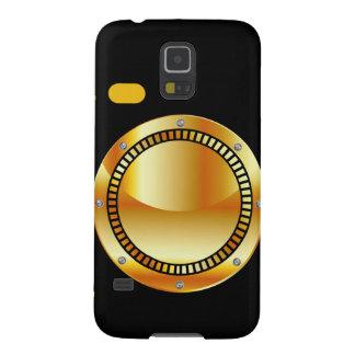 Cámara digital con una abertura de oro funda galaxy s5