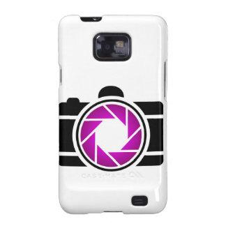 Cámara digital con una abertura púrpura galaxy SII funda