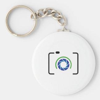 Cámara digital con una abertura redonda llaveros personalizados