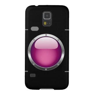 Cámara digital con una abertura rosada fundas de galaxy s5