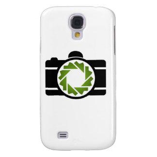 Cámara digital con una abertura verde samsung galaxy s4 cover